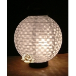 New 3Led battery 8 Inch eyelet paper lantern-white