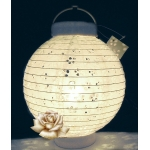 3Led battery 8 Inch eyelet paper lantern-white