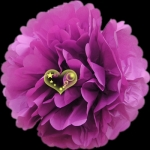 "8"" Tissue Paper Pom Poms Ball - Violet(4 pieces)"