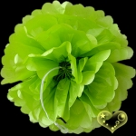 "8"" Tissue Paper Pom Poms Ball - Chartreuse(4 pieces)"