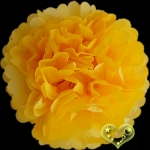 "12"" Tissue Paper Pom Poms Ball - Yellow(4 pieces)"