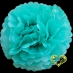 "8"" Tissue Paper Pom Poms Ball - Teal (4 pieces)"