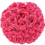 "12"" Fuchsia Rose Flower Lantern"