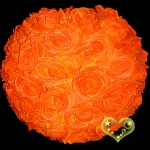 "12"" Orange Rose Flower Lantern"