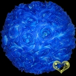 "12"" Dark Blue Rose Flower Lantern"