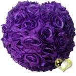 "12"" Purple Rose Flower Lantern"