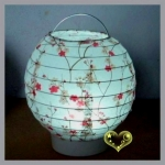"6"" Cherry Blossom Paper Battery Lantern(50 of case)"