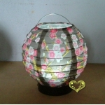 "6"" Brown Cherry Blossom Battery Lantern(50 of case)"