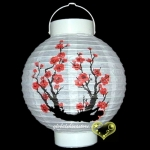 "8"" Cherry Blossom Paper Battery Lantern"