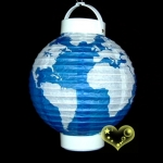 "8"" World Pattern Battery Lantern"