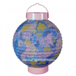 "8"" Blue Sakura Floral Pattern Battery Lantern"