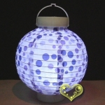 "8"" Blue Dot Pattern Battery Lantern"