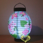 "7"" Kawaii Blue Pattern Battery Lantern"