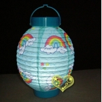 "7"" Kawaii Rainbow Pattern Battery Lantern"