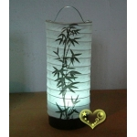 Bamboo Cylinder LED Paper Battery Lantern(50 of case)