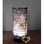 Brown Plum Cylinder LED Paper Battery Lantern(50 of case)