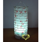 White Plum Cylinder LED Paper Battery Lantern(50 of case)