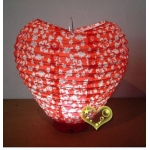 Heart Patterned 3Led Battery Operated Lantern