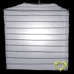 "10"" White Square Bamboo Ribs Paper Lanterns"