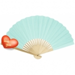 "9"" Sky Blue Paper Hand Fans(200 of case)"