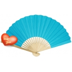 "9"" Turquoise Paper Hand Fans"