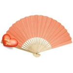 "9"" Pink Paper Hand Fans"