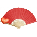 "9"" Red Paper Hand Fans(200 of case)"