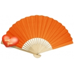 "9"" Orange Paper Hand Fans(200 of case)"