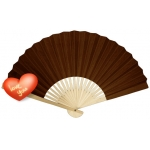 "9"" Chocolate Paper Hand Fans(200 of case)"