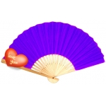"9"" Purple Paper Hand Fans(200 of case)"