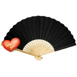 "9"" Black Paper Hand Fans(200 of case)"