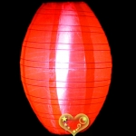 "10"" Kawaii Nylon Lanterns-Red"