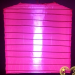 "10""Square Nylon Lanterns-HOT PINK"
