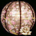 "14"" Brown Plum flower paper lantern"