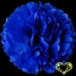 "20"" Tissue Paper Pom Poms Ball -Dark Blue (4 pieces)"