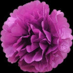 "20"" Tissue Paper Pom Poms Ball - Violet (4 pieces)"