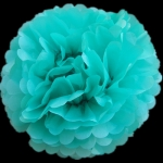 "16"" Tissue Paper Pom Poms Ball -TEAL (4 pieces)"