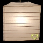 "10"" Beige Square bamboo ribs Paper Lanterns"
