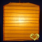 "10"" Orange Square Bamboo Ribs Paper Lanterns"