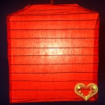 "10"" Red Square Bamboo Ribs Paper Lanterns"