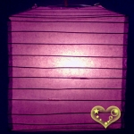 "10"" Purple Square Bamboo Ribs Paper Lanterns"