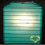 "10"" Turquoise Square Bamboo Ribs Paper Lanterns"