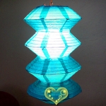 Turquoise Gear Paper Lanterns