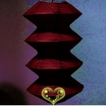 Burgundy Gear Paper Lanterns