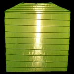 "10""Square Nylon Lanterns-Apple Green"