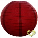 14 Inch Even Ribbing Mauve Paper Lanterns
