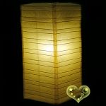 Light Yellow Cuboid paper lanterns