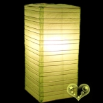 Light Lime Cuboid paper lanterns