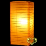 Orange Cuboid paper lanterns