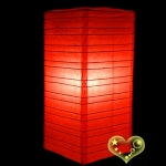 Red Cuboid paper lanterns
